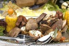 Carne asada a la parilla Fotografía de archivo libre de regalías