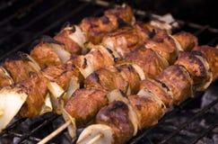 Carne asada a la parilla de la barbacoa Foto de archivo