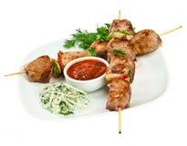 Carne asada a la parilla sabrosa, kebab del shish Imagen de archivo libre de regalías