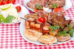 Carne asada a la parrilla - especialidad asada a la parrilla Fotografía de archivo libre de regalías