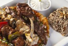 Carne asada a la parrilla mezclada árabe Fotografía de archivo