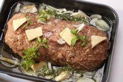Carne asada picadita lista para ser cocinado Fotografía de archivo
