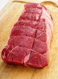 Carne asada sin procesar del filete Foto de archivo libre de regalías