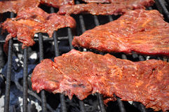 Carne Asada sul BBQ Fotografia Stock Libera da Diritti