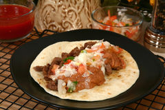 carne asada tacos Obrazy Royalty Free