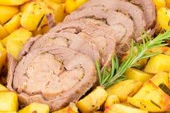 Carne asada y patatas Imagen de archivo