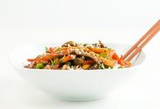 A carne asiática Agitar-Frita Imagem de Stock