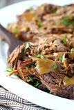 Carne assada com molho Foto de Stock
