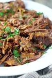 Carne assada com molho Foto de Stock Royalty Free