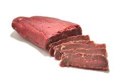Carne Basturma fotografia stock