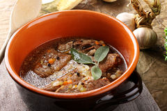Carne bollita con le verdure Fotografia Stock