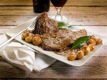 Carne brasata Fotografia Stock