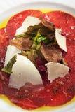 Carne Carpaccio Imagens de Stock
