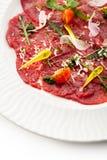 Carne Carpaccio Fotografia de Stock