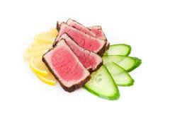Carne, cetriolo e limone Immagini Stock