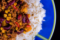 carne chili przeciw Fotografia Royalty Free