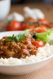 carne chili przeciw Zdjęcia Stock