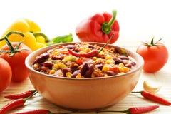 carne chili przeciw Obrazy Stock