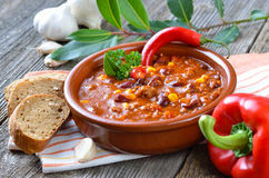 carne chili przeciw zdjęcie royalty free
