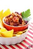 carne chili przeciwko Obraz Stock