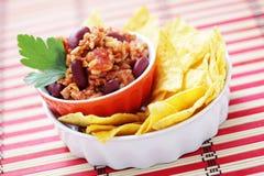 carne chili przeciwko Obraz Royalty Free