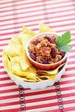 carne chili przeciwko Zdjęcia Royalty Free