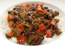 carne chili przeciwko Fotografia Royalty Free