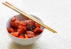 Carne chinesa com vegetais Foto de Stock