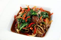 Carne cocida con las verduras Fotografía de archivo libre de regalías