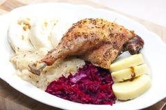 Carne cocida del pato Foto de archivo libre de regalías