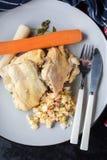 Carne cocinada del pollo fotos de archivo libres de regalías