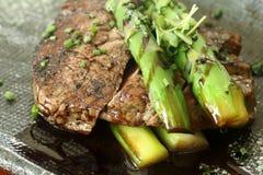 Carne com aspargo 1 Imagem de Stock Royalty Free