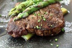 Carne com aspargo 3 Fotografia de Stock