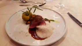 Carne com batata do rosmann Fotografia de Stock