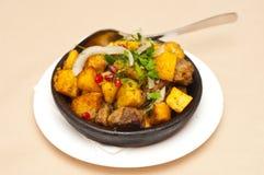 Carne com batatas Imagens de Stock