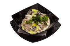 Carne com cogumelos Imagens de Stock