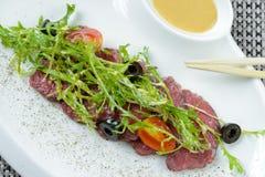Carne com dente-de-leão preparado Imagem de Stock