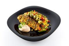 Carne com vegetais Imagens de Stock