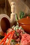 Carne com vegetais 2 Fotografia de Stock