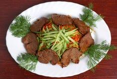 Carne com vegetais 3 Fotografia de Stock