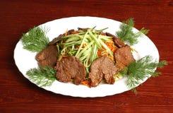 Carne com vegetais 4 Imagens de Stock