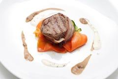 Carne com vegetais. Foto de Stock Royalty Free
