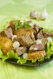 Carne com vegetais Fotografia de Stock Royalty Free