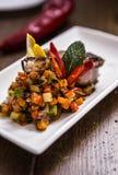Carne com vegetais do ratatouille Imagem de Stock Royalty Free