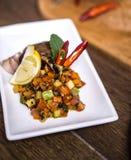 Carne com vegetais do ratatouille Imagens de Stock