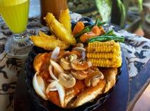 Carne com vegetal Fotografia de Stock