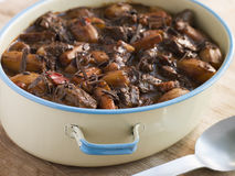 Carne con Chocolate. In a hot pot Royalty Free Stock Photography