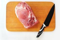 Carne con el cuchillo Fotografía de archivo libre de regalías