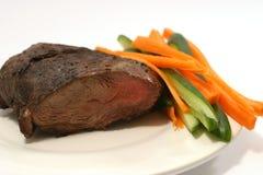 Carne con el pepino y la zanahoria Imagenes de archivo
