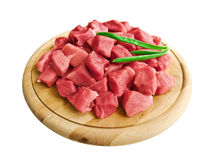 Carne con i verdi Immagine Stock